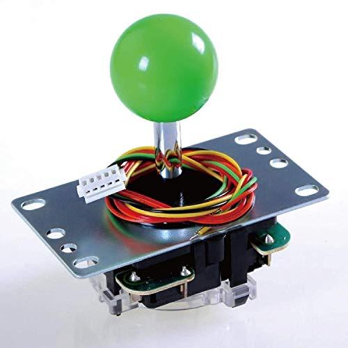 Sanwa JLF-TP-8YT Joystick Green Original - für Arcade Jamma Spiel 4 & 8 fach verstellbar, kompatibel mit Catz Mad SF4 Turnier-Joystick (Green Ball Top) S@NWA