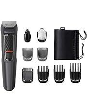 Philips MULTIGROOM Series 3000 Cara y cabello 9 en 1 MG3757/15 - Afeitadora (Acero inoxidable, 70 min, Integrado)