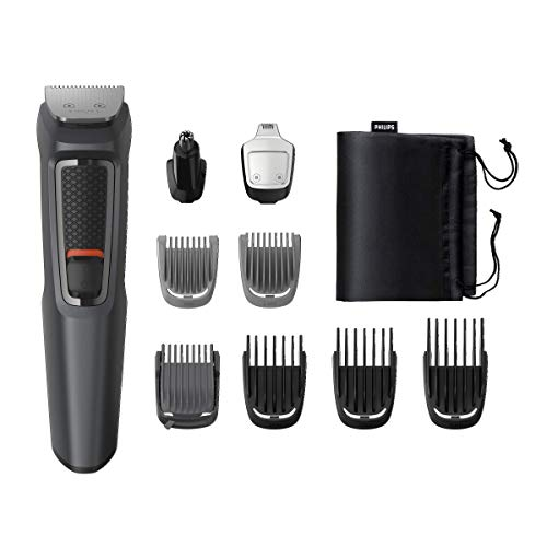 Philips MULTIGROOM Series 3000 Cara y cabello 9 en 1 MG3757/15 - Afeitadora (Acero inoxidable, 70 min, Integrado)