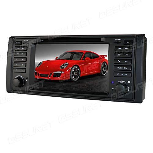 Android 10 Navegación GPS para automóvil Bluetooth 1 DIN Vehículo estéreo con Pantalla táctil de 7 Pulgadas para BMW 5-E39 X5-E53 M5 7-E38 Soporte Mirror Link Radio WiFi 4G SWC DVR OBD2 Dab +