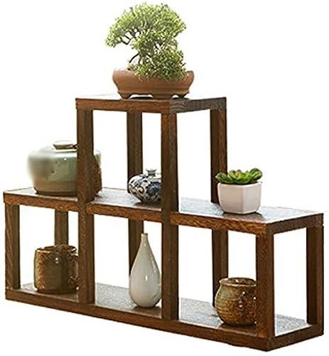 WZHFLOWERSTAND Im Japanischen Stil Aus Massivholz Vintage Blaumenst er Antikes Display Rack Multi-Bag Lagerregal Rack Flower Stand