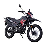 2020 Version 200cc Motorcycle Lifan X-Pect Bike Adult Dirt Bike 200cc 14hp Enduro Street Bike Dirt Bikes Fuel Injection Fully Assembled (Red)