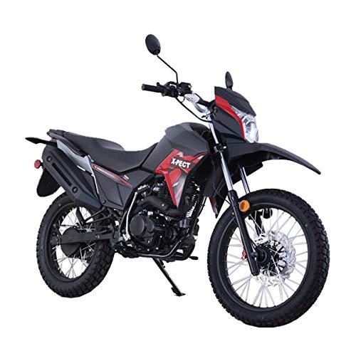 2020 Version Lifan X-Pect Bike Adult Dirt Bike 200cc 14hp Enduro Motorcycle Street Bike Dirt Bikes Fuel Injection Fully Assembled(Red)