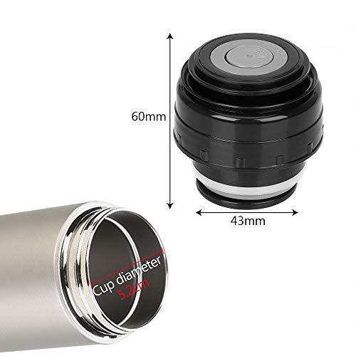 Runy Thermos en Acier Inoxydable avec Couvercle pour Bouteille Isotherme 5,2 cm