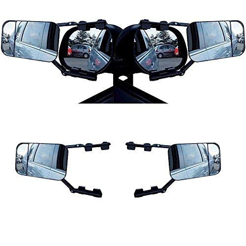 DWT-GERMANY 100263 2x Caravanspiegel Wohnwagenspiegel Caravan Spiegel Clip on Rückspiegel