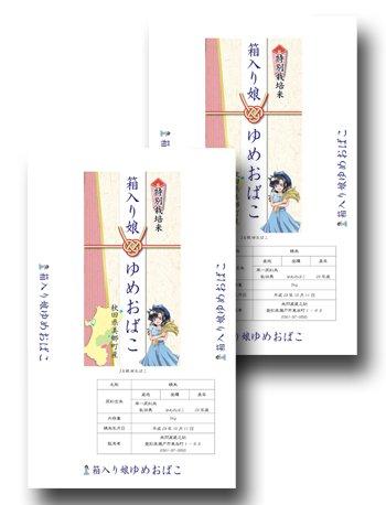 秋田県 箱入り娘 ゆめおばこ (10kg)
