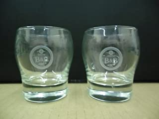 Set of 2 Dom B&B Benedictine & Brandy Liqueur Cognac Snifter Cocktail Glasses