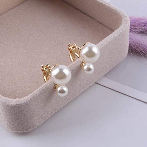 Earring Simulated Pearl Statement Clip on Earrings Women Wedding Party no Pierced Earrings Maxi Jewelry Love