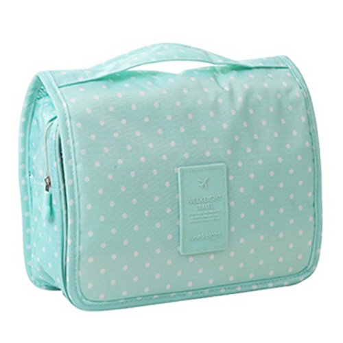 Dot Sac de rangement Deep Green Polka Cosmetic sac pliable