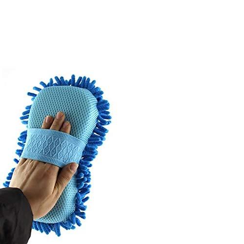 Tings Microfiber Chenille Auto Wash Handschoenen Car Cleaning Spons Handdoek Doek Car Washer Supplies Home Cleaning, hemelsblauw