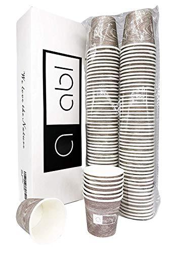 Bicchieri Caffe Biodegradabili in Carta 50ml - 100 Pezzi Bicchierini Compostabili - Scatola Rigida