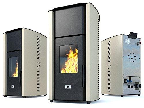Estufa caldera de pellets Eco Spar modelo Hydro Auriga Salida de calor...