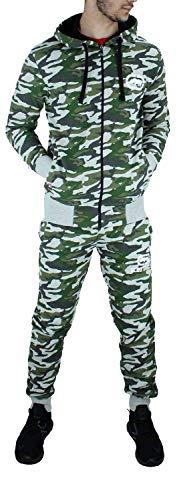 Ecko - Chándal para hombre, diseño de camuflaje, chaqueta y jog, color gris