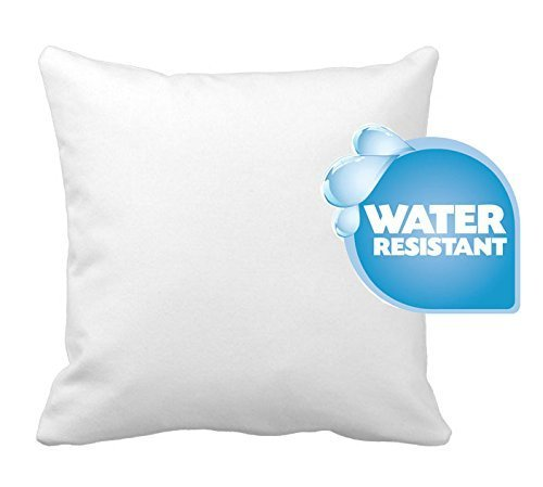 "IZO Home Goods Premium Outdoor Anti-mold Water Resistant Hypoallergenic Stuffer Pillow Insert Sham Square Form Polyester, 18"" L X 18"" W, Standard/White"
