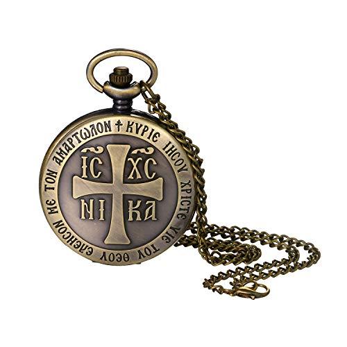 orologio da tasca uomo Lancardo Orologio Quarzo da Tasca Catena Uomo Quadrante Digitale Non Impermeabile