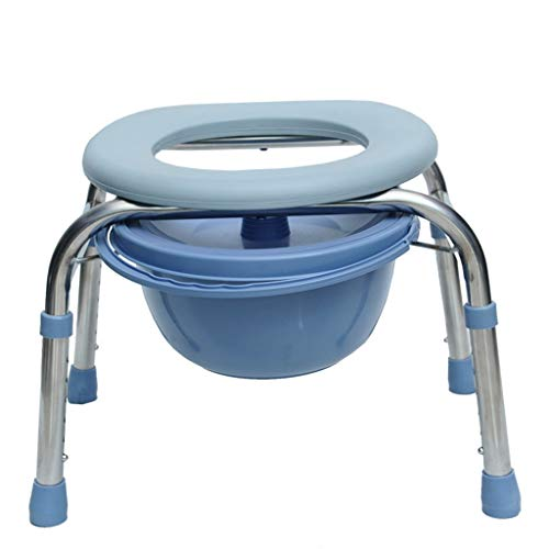 ZBYXZIGJ Commode Chair, Thicker Steel Pipe Old Man Pregnant Women Bathroom Portable Toilet for Adults Commode Chair