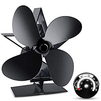 Heat Powered Stove Fan ZOTO Fireplace Fan with Silent Motor for Wood Log Burner Stove NEW VERSION
