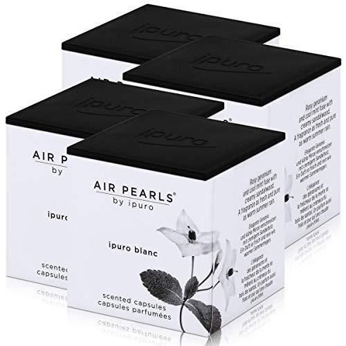 Air Pearls by ipuro - Cápsulas aromáticas (2 x 5,75 g, aroma de geranio y menta fresca fusionada con madera de sándalo cremosa (4 unidades)