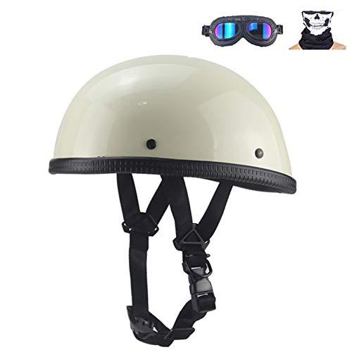 Braveking Casco Moto con Gafas Half Helmet Verano Casco Jet 1/2 Hombres...