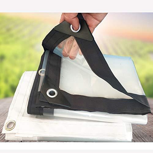 LJIANW lonas impermeables exterior, Despejar La Lona Impermeable Plástico Polivinílico Los 0.12MM Grueso Con Ojales Cada 18 Pulgadas, Refugio De Emergencia Para Lluvia Cubierta Al Aire Libre 54 Tamaño