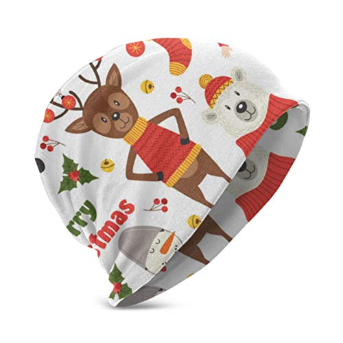 Unisex Beanie Hat Warm and Cozy with Christmas Characters 3D Kids Fashion Beanie Caps Suitable For Children Aged 3-15
