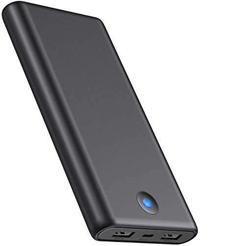 iPosible Power Bank 26800mah, Y7 Caricatore Portatile Carica Rapida Caricabatterie Portatile Batteria Esterna con 2 Uscite per iPhone, Samsung, Huawei