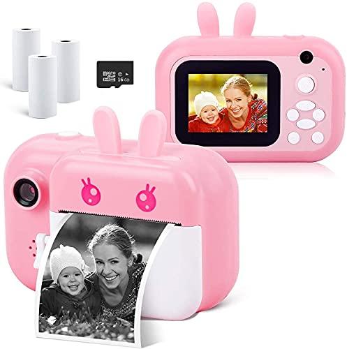 Camera Printer,Mini Camera for Kids,Instant Photo Printer Camera,24MP Digital Camera Toddler Camera with Print Peper,2.4 in HD 1080P Video Camera Selfie Camera Toy Camera Kids Camcorder