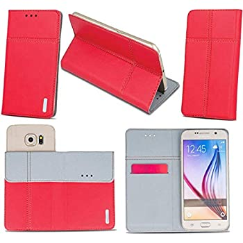 Supercase24 Handy Tasche für Fairphone Fairphone 3 Book Case Klapp Cover Schutz Etui Hülle in rot