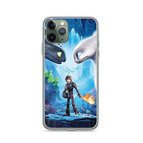 JINSHEN iPhone Case TPU Soft Shell Schokbestendig duidelijk Case Cover Hoe om te trainen uw Draak Hiccup Tandloos Verborgen Wereld, iPhone 11 Pro Max