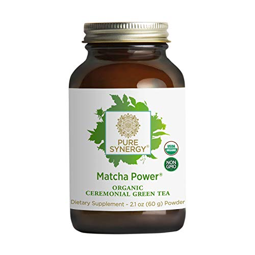 Organic Matcha Power 60g Powder, Ceremonial Grade, Antioxidants, Non-GMO, Vegan, Gluten Free