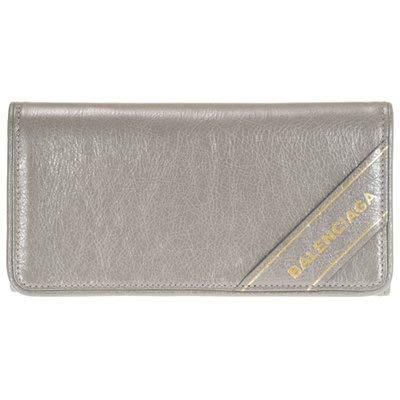 [バレンシアガ] 財布 二つ折り長財布 グレー 466684 D94IG 1730 レザー ブランケット [並行輸入品]