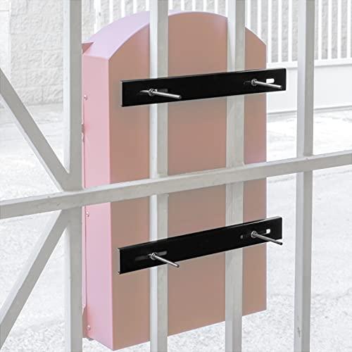 PrimeMatik - Befestigungs Set für Zäune Mailboxen Stahl 25cm. Briefkasten verstärkt Befestigungs Stangen