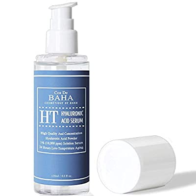 Pure Hyaluronic Acid 1% Powder Solution Serum 4oz 10,000ppm - Anti Aging + Fine Line + Intense Hydration + facial moisturizer + Visibly Plumped Skin + Prevent Bladder Pain, 4oz (120ml)
