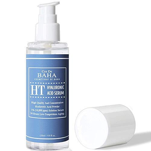 Pure Hyaluronic Acid 1% Powder Serum for Face 10,000ppm - Anti Aging + Fine Line + Intense Hydration + facial moisturizer + Visibly Plumped Skin + Prevent Bladder Pain (4Fl Oz)