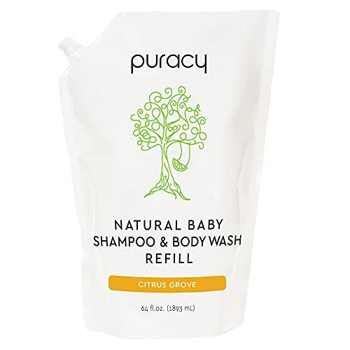 Puracy Natural Baby Shampoo & Body Wash ((1) 64-Ounce Refill Pouch (Citrus Grove))