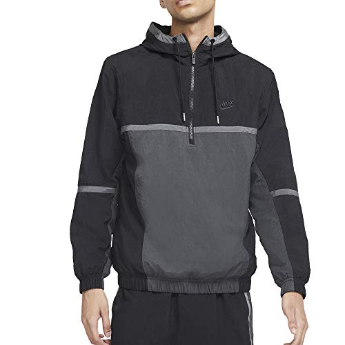 Nike Chaqueta de hombre Hooded Woven Lined Negra Cód. CZ9962-010 negro / azul claro XL