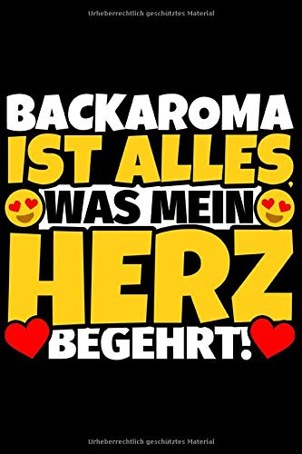 Notizbuch liniert: Backaroma Geschenke für Backaroma-Liebhaber lustig