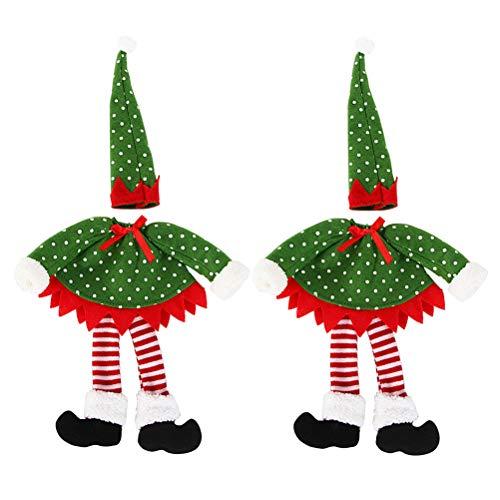 BESPORTBLE 2 Unidades de Botellas de Vino de Navidad, Cubierta de espíritu, Bolsa Decorativa Creativa para Fiestas, decoración, Estilo de Lunares Redondos