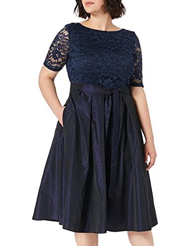 Vera Mont Damen 4330/4177 Cocktailkleid, Dark Blue/Dark Blue, 44