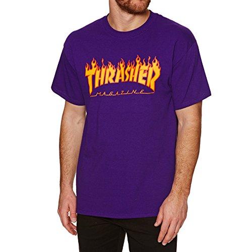 THRASHER Flame Unterhemd, Violett, L