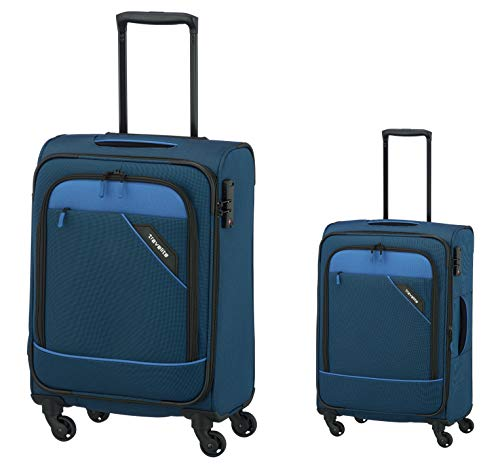 2-delig - Trolley-koffer - Set: M + S 63 + 55 cm - Travelite Serie Derby (blauw)