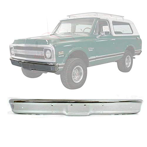 New Front Bumper Face Bar Chrome Steel For 1967-1970 Chevrolet & GMC C/K Series/Suburban Direct Replacement 3884701
