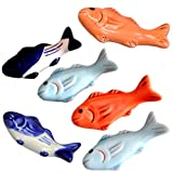 UPKOCH Fish Chopstick Rest Ceramic Japanese Chopsticks Pillow Rack Dinner Spoon Fork Knife Holder Dinnerware Stand Decoration Housewarming Gift 6 Pcs (Random Style)