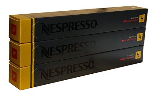 Nespresso Kapseln Volluto Decaffeinato - 3er Pack, 30 Kapseln (gold) - Entkoffeiniert