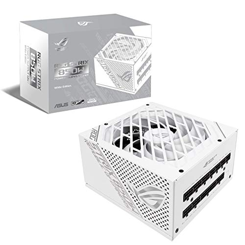 ASUS ROG-STRIX-850G-WHITE - White Edition - Alimentatore (Interno) - ATX12V - 80 Plus Gold - AC 100-240V - 850 Watt - Bianco