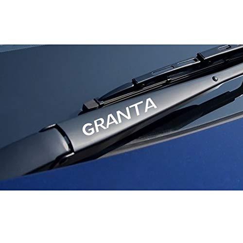 SLONGK 4PCS Reflective Creative Auto Fensterwischer Aufkleber Auto Vinyl Sport Aufkleber, für Lada Granta wasserdichtes PVC Auto Zubehör