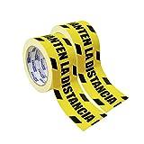 Criscolor 41591 Cinta Manten Distancia Seguridad, paquete de 2, Amarilla