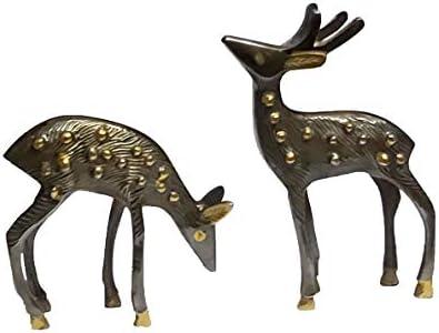 Brass deer statue _image4