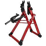 FOLOSAFENAR Soporte de Ajuste de Rueda de Bicicleta - Soporte de Rueda de Soporte de Ajuste de Rueda de Bicicleta de aleación de Aluminio Plegable - para reparación de Bicicletas