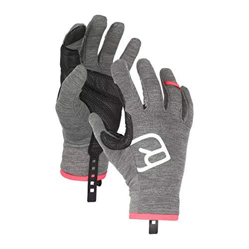 ORTOVOX Womens Fleece Light Glove Liners, Dark Grey Blend, M